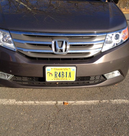VA MB license plate