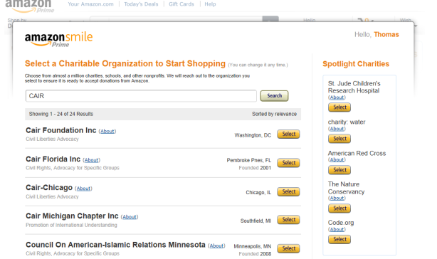 amazon CAIR chapters