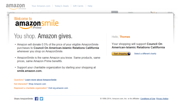 Amazon support CAIR