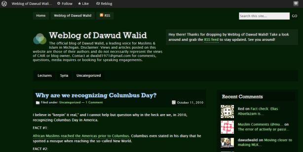 dawud on columbus day1