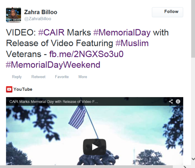 billoo on cair vidoe on muslim veterans