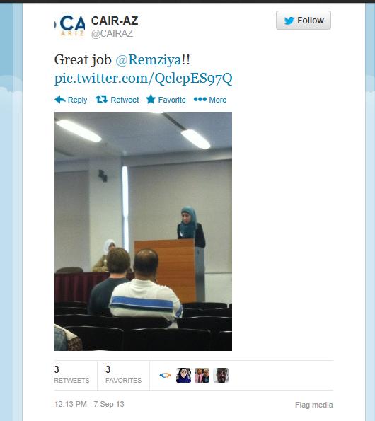 cair az tweet on remziya
