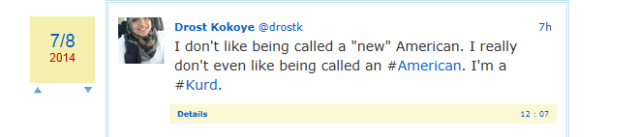 drost on not liking being called american