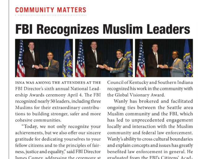 fbi honors muslim leaders