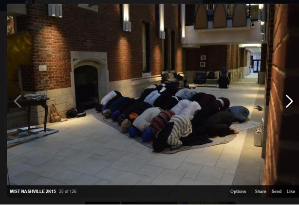 muslims praying at vandy