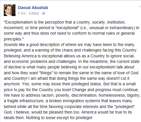 daoud on exceptionalism