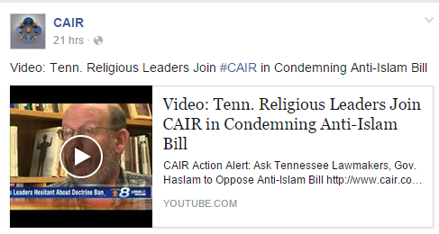 cair on bill