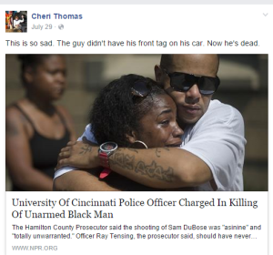 cheri thomas on cincy cop kills blk man