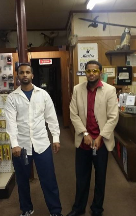 al sharif in gun store