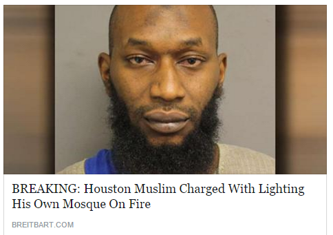 muslim arrested for arson of houston mosque