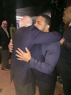 ahmed hugging sanders